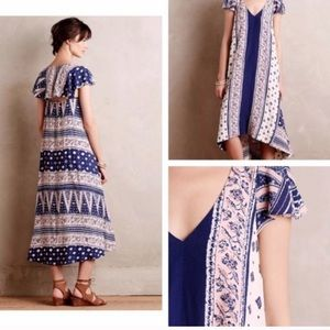 Anthropologie Maeve Summertime Swing Boho Dress